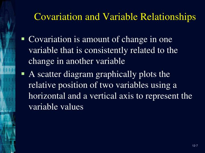Covariation and Variable Relationships
