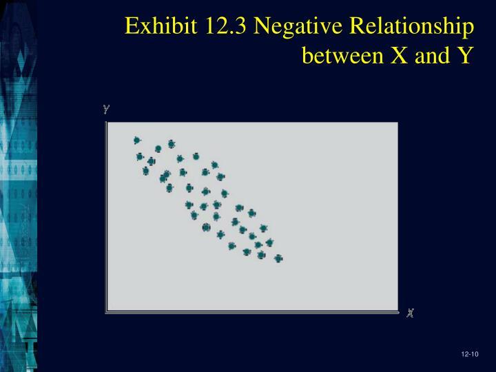 Exhibit 12.3 Negative Relationship