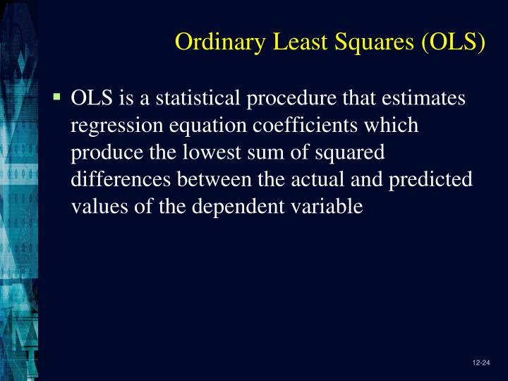 Ordinary Least Squares (OLS)