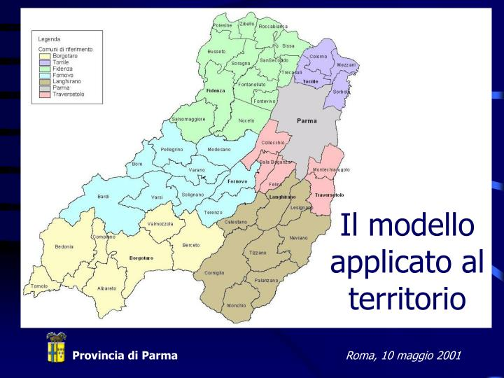 Il modello applicato al territorio