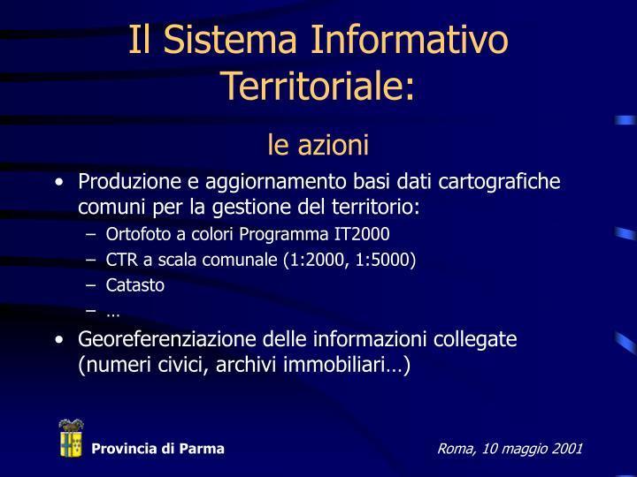 Il Sistema Informativo Territoriale: