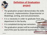 definition of graduation project