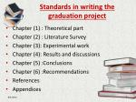 standards in writing the graduation project1