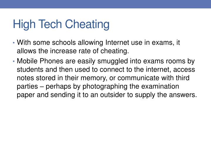 High Tech Cheating