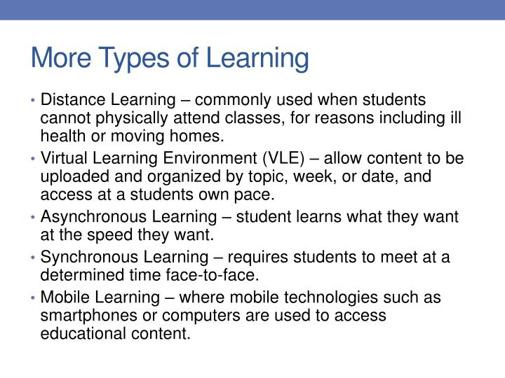 More Types of Learning