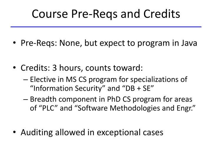 Course Pre-