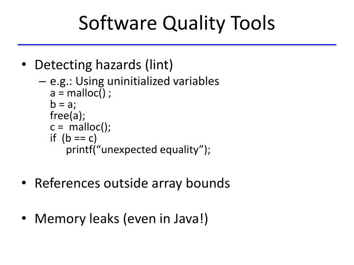 Software Quality Tools