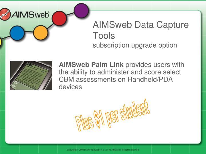 AIMSweb Data Capture Tools