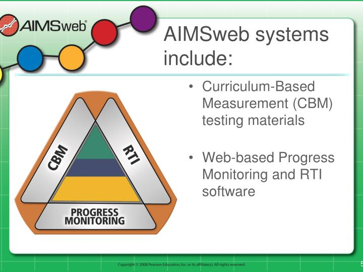 AIMSweb systems include: