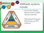 aimsweb systems include