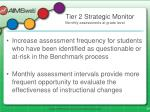 tier 2 strategic monitor monthly assessments at grade level