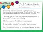 tier 3 progress monitor frequent assessment towards goals using goal level assessments