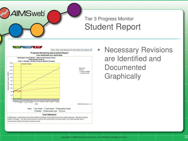 Tier 3 Progress Monitor
