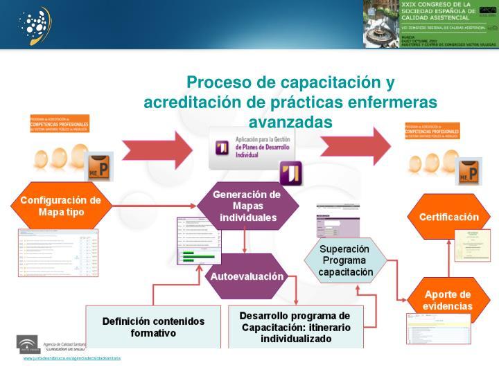Proceso de capacitación y acreditación de prácticas enfermeras avanzadas