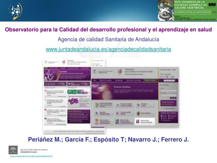Observatorio para la Calidad del desarrollo profesional y el aprendizaje en salud
