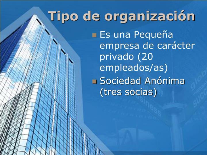 Tipo de organización