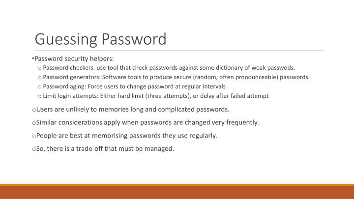 Guessing Password