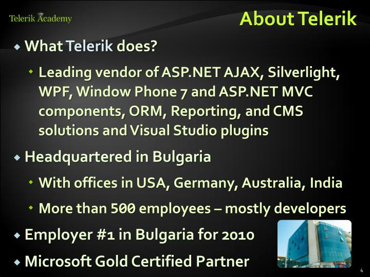 About Telerik