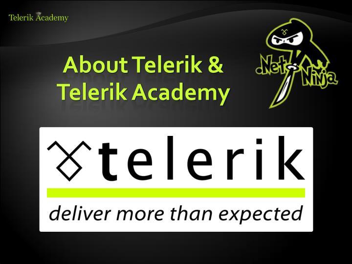 About Telerik & Telerik Academy
