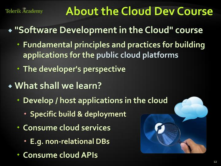 About the Cloud Dev Course