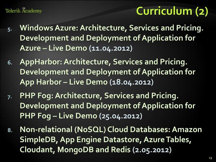 Curriculum (2)