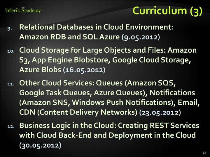 Curriculum (3)