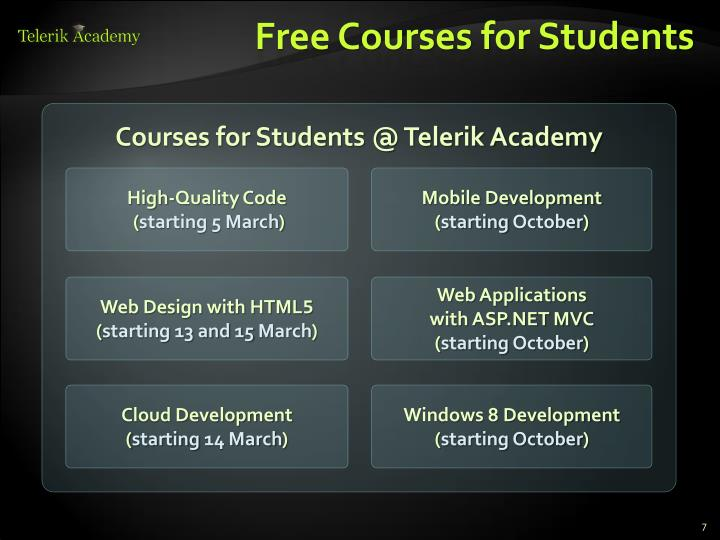 Free Courses for Students