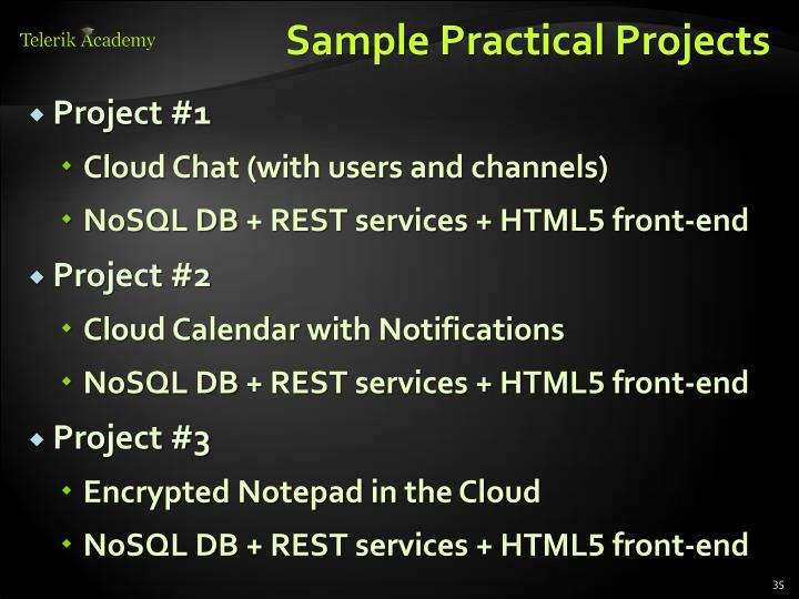 Sample Practical Projects