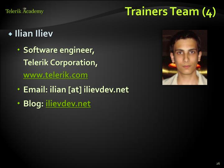 Trainers Team (4)