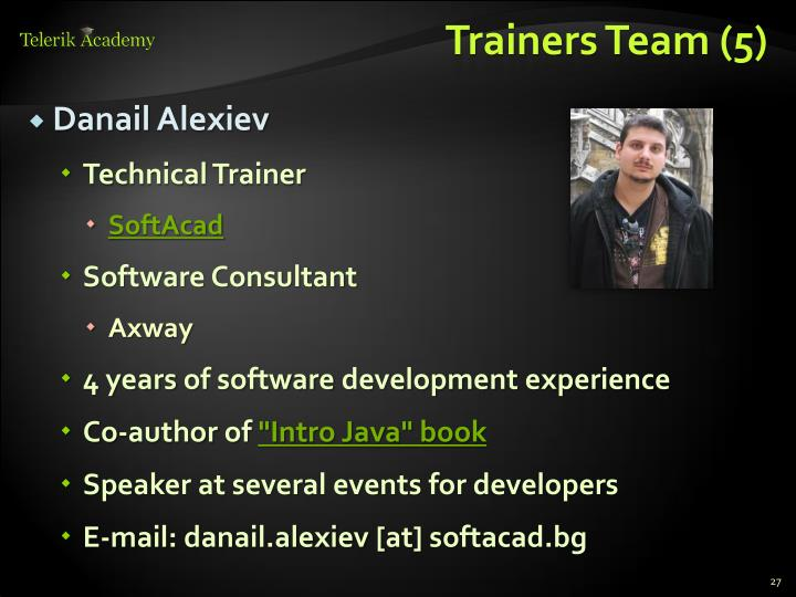 Trainers Team (5)