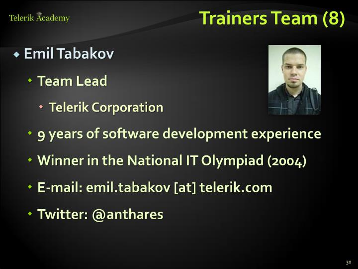 Trainers Team (8)
