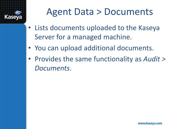 Agent Data > Documents