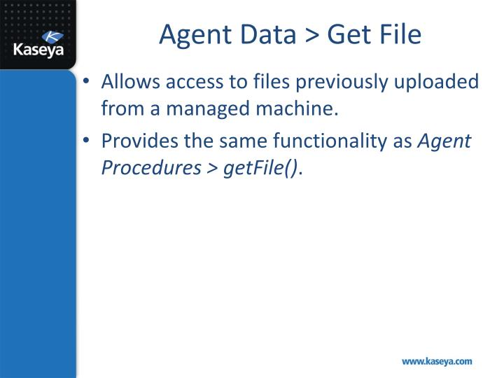 Agent Data > Get File