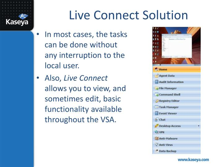 Live Connect Solution