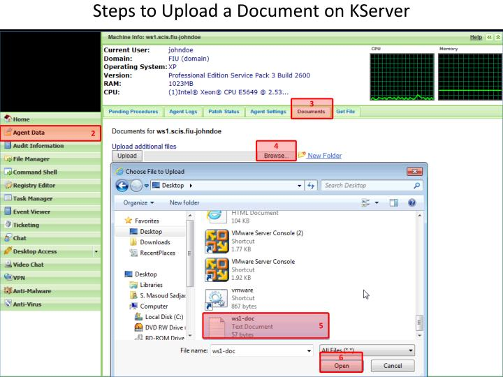 Steps to Upload a Document on