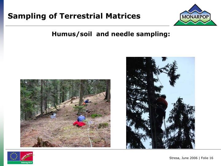 Sampling of Terrestrial Matrices