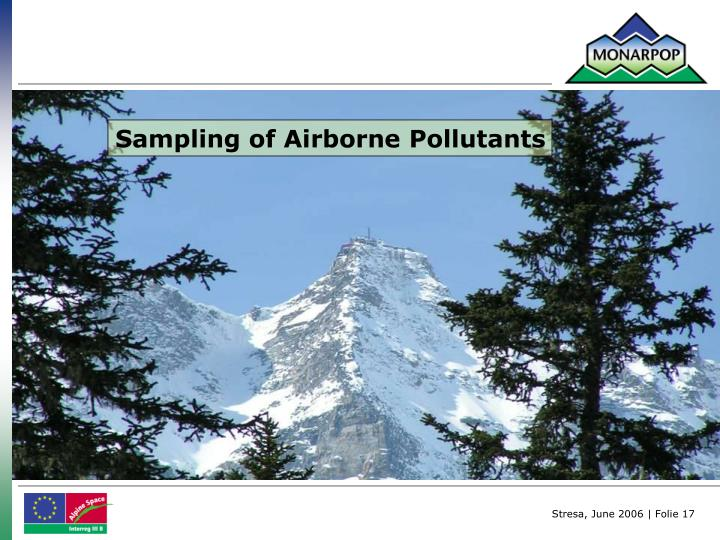 Sampling of Airborne Pollutants