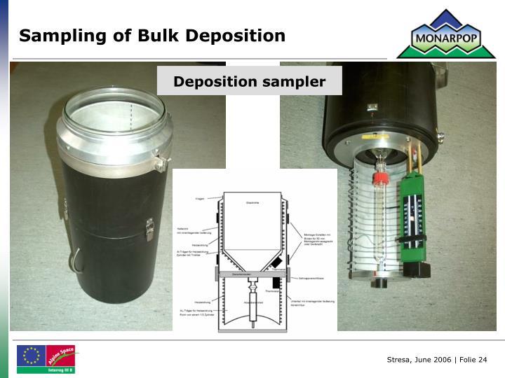 Sampling of Bulk Deposition