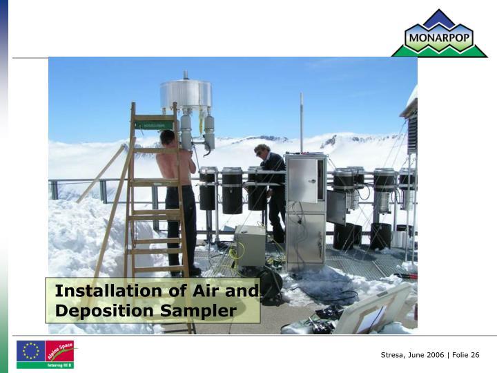 Installation of Air and Deposition Sampler