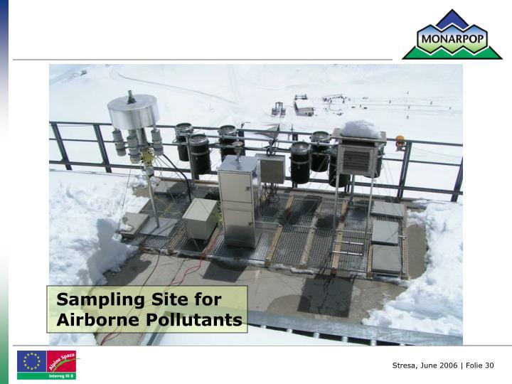 Sampling Site for Airborne Pollutants