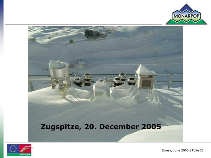 Zugspitze, 20. December 2005