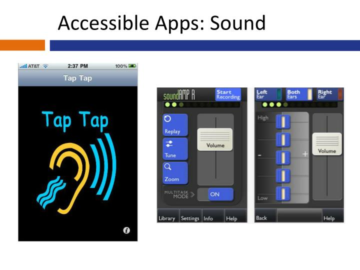 Accessible Apps: Sound