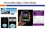accessible apps video relay