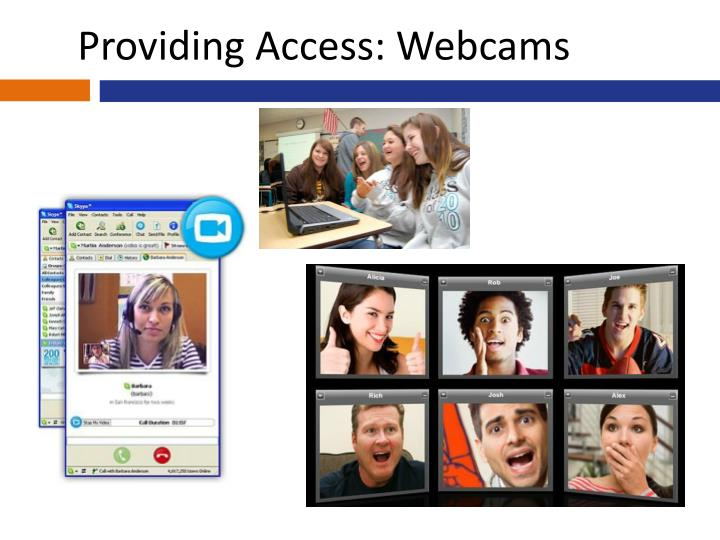 Providing Access: Webcams