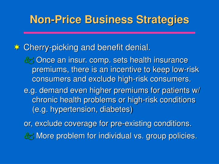 Non-Price Business Strategies