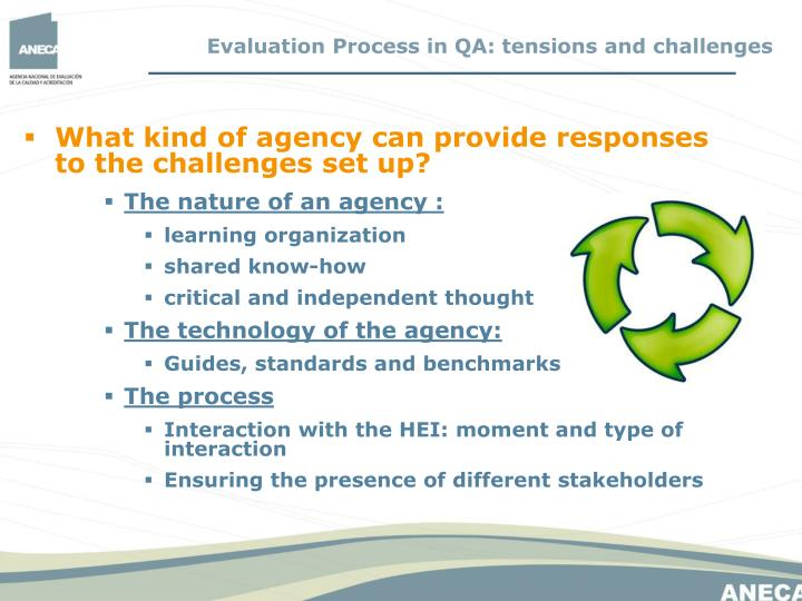 What kind of agency can provide responses to the challenges set up?