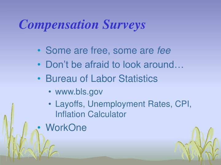 Compensation Surveys