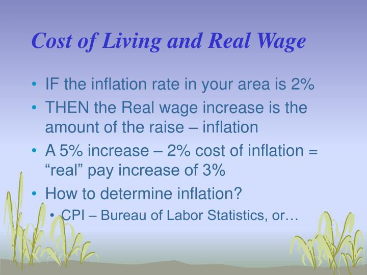 Cost of Living and Real Wage