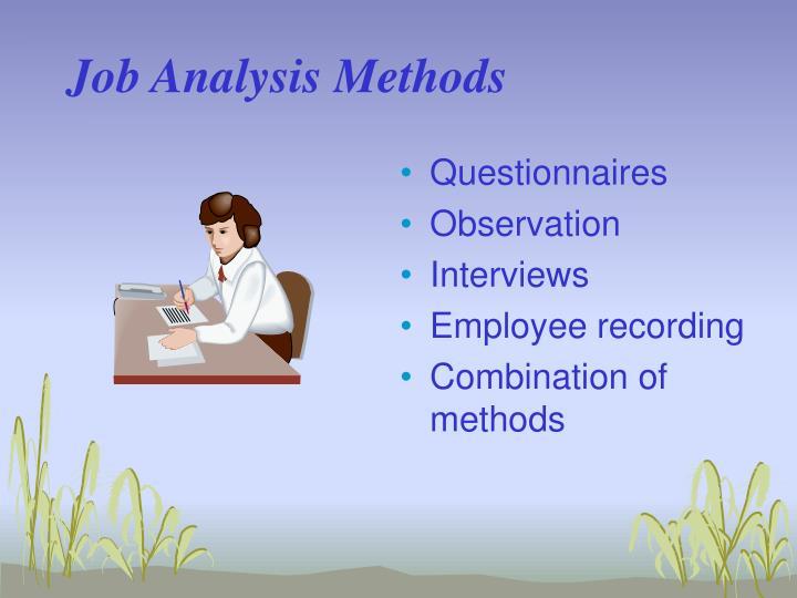 Job Analysis Methods