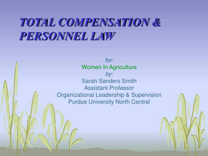 Total compensation personnel law